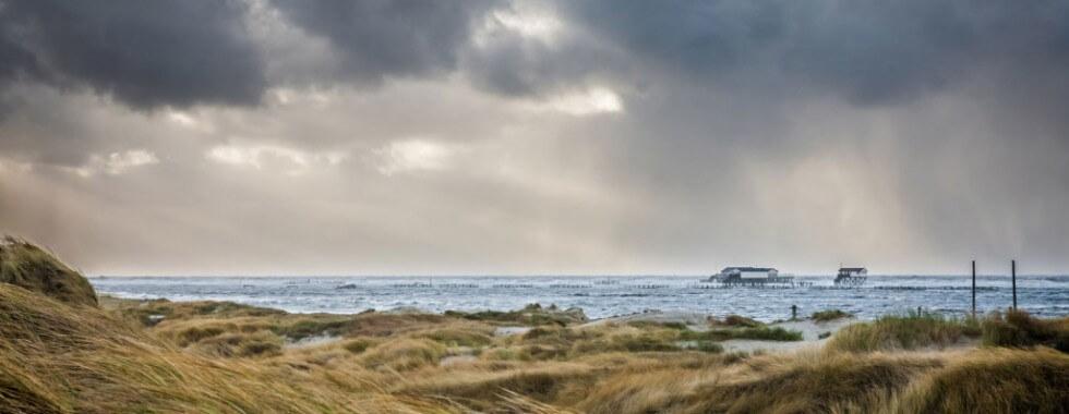 Sturmwetter am Strand von St. Peter-Ording