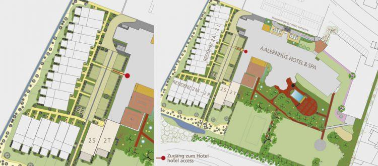 Lageplan Residenz Garten- und Familiensuite
