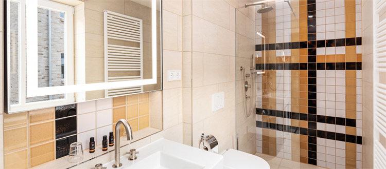 Residenzen Familiensuite Dusche